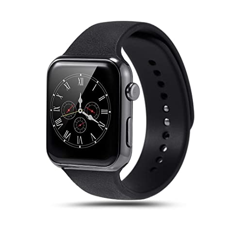 e2b897b5771 Amazon.in  Buy Mobifox Model A9 Heart Rate Monitor Bluetooth Smart Watch for  All Andriod Smartphones and iOS (Black) Online at Low Prices in India