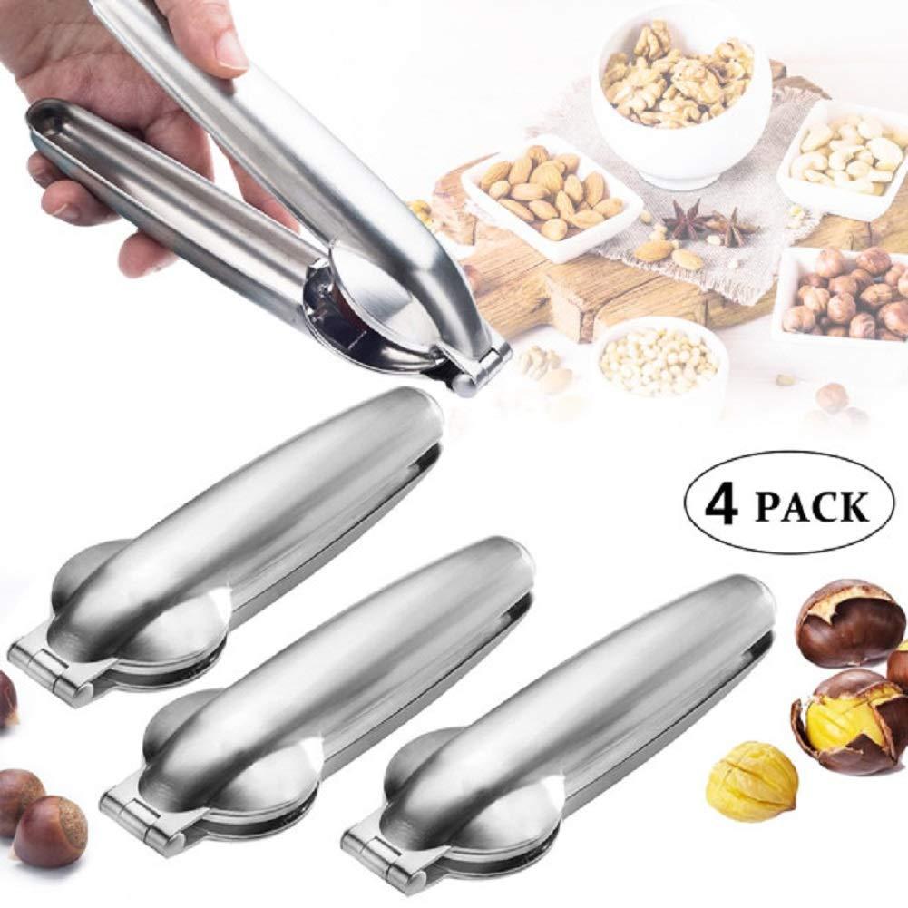 Nutcracker Chestnut Clip, Nut Cracker Sheller Walnut Pliers, Metal Nut Opener Plier, Stainless Steel Kitchen Tools Multifunctional Chestnut Opener Nut Walnut, Dried Fruit Opener 4 pack by Joatiy