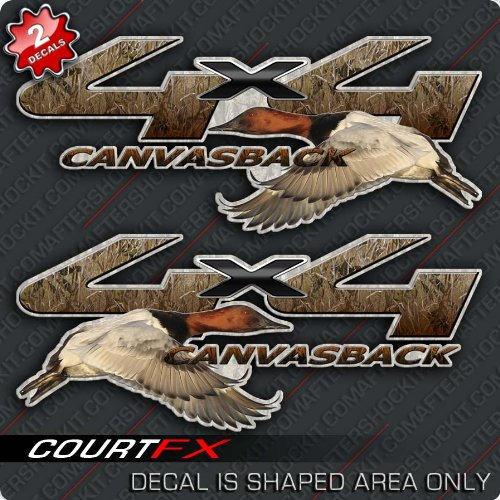 - Canvasback Duck Hunting 4x4 Truck Camo Decal