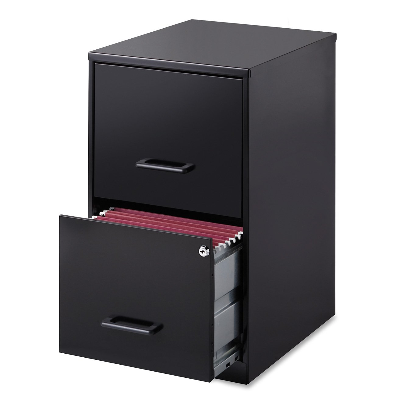 File Cabinet Amazoncom Lorell 14341 18 Deep 2 Drawer File Cabinet Black