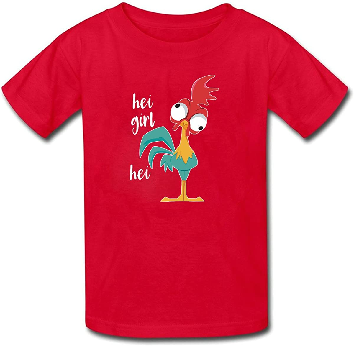 Kids T-Shirt Tops Black HEI Girl Unisex Youths Short Sleeve T-Shirt