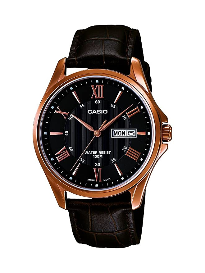 Amazon.com: Casio # mtp1384l-1av de los hombres Rose tono ...