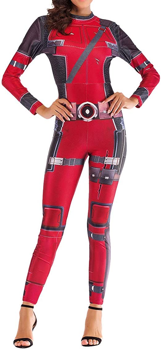 FHTD Disfraz de Deadpool para Mujer Disfraz de Halloween Show de ...