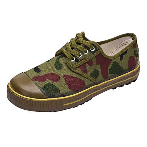 Juleya Zapatillas de Lona Transpirables Zapatos Casuales Hombre Zapatillas Deportivas de Camuflaje al Aire Libre Zapatos de Senderismo Zapatillas ...