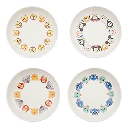 amazon com disney tsum tsum melamine sauce plate set side dishes