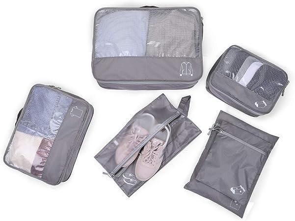 Organisateur de voyage morpilot 6PCS Organisateur de valise Organisateur de sac avec Tissu imperm/éable ne se froissant pas Fermeture /à glissi/ère robuste