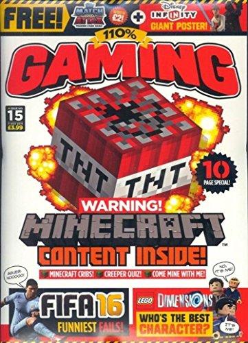 110% GAMING MAGAZINE #15 2015, MINECRAFT LEGO, MEGA FREE GIFTS!, NEW & SEALED.