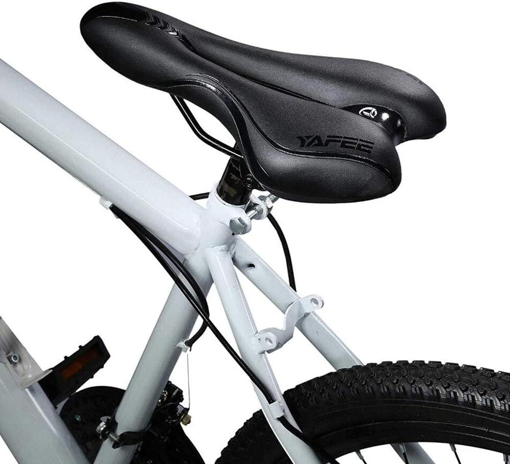 Bycikool Bike Seat Cushion Comfortable Soft Foam Saddle Padded Bike Seat for Women Men Breathing Mountain Bike Seat