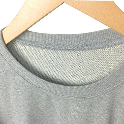 Moda Moda Moda BLACKMYTH Donna Donna Donna Letter Felpe Lunga Sweatshirt Casual Grigio Manica Pullovers p1AqwY1r