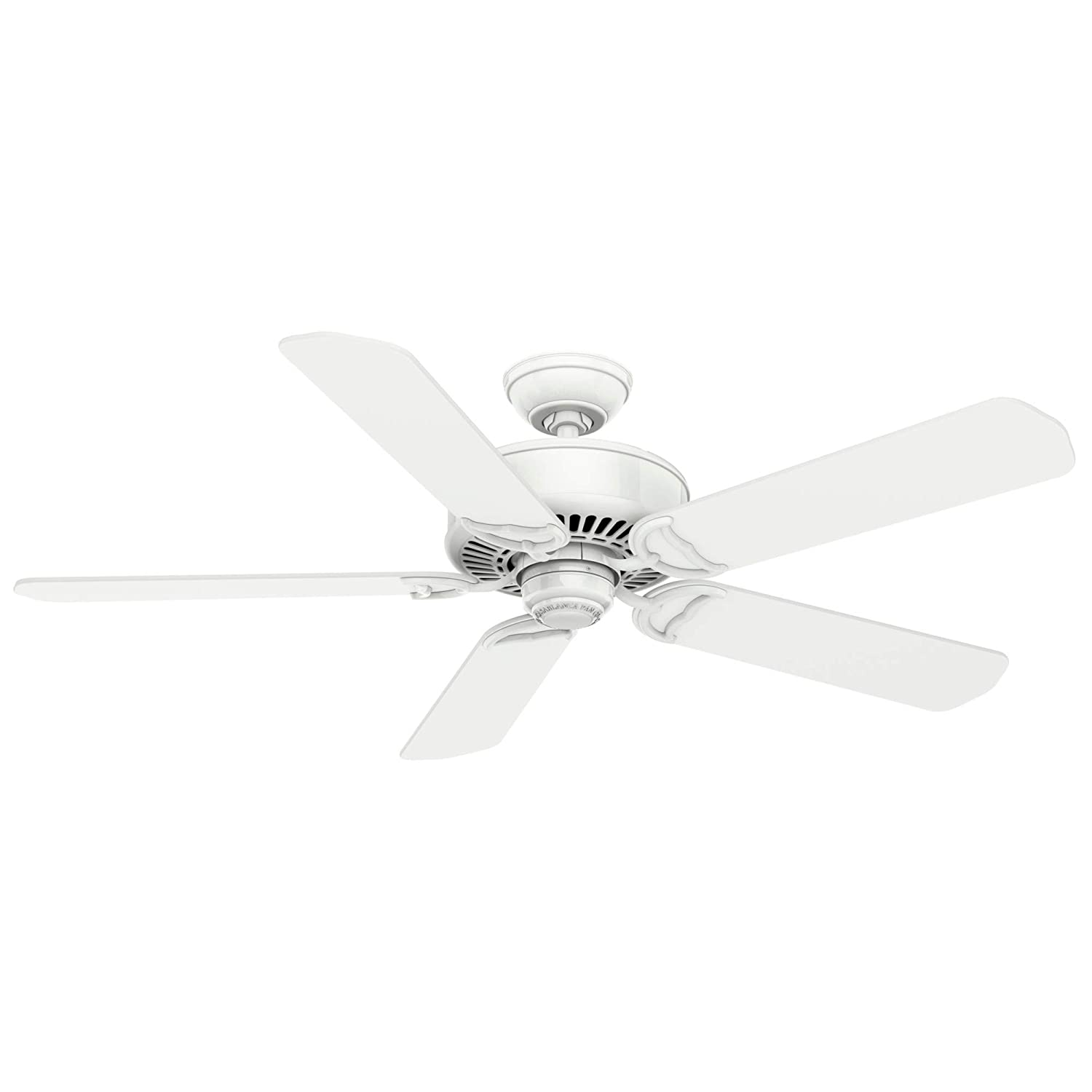 Casablanca Fan Company 59510 Panama Ceiling Fan, 54, Snow White