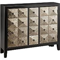 Stein World Furniture Swank Accent Chest, Metallic Black, Pewter