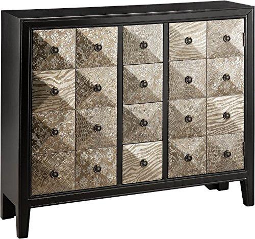 - Stein World Furniture Swank Accent Chest, Metallic Black, Pewter