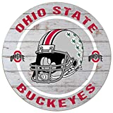 KH Sports Fan 20'x20' Weathered Ohio State Buckeyes Helmet Circle Wall Sign