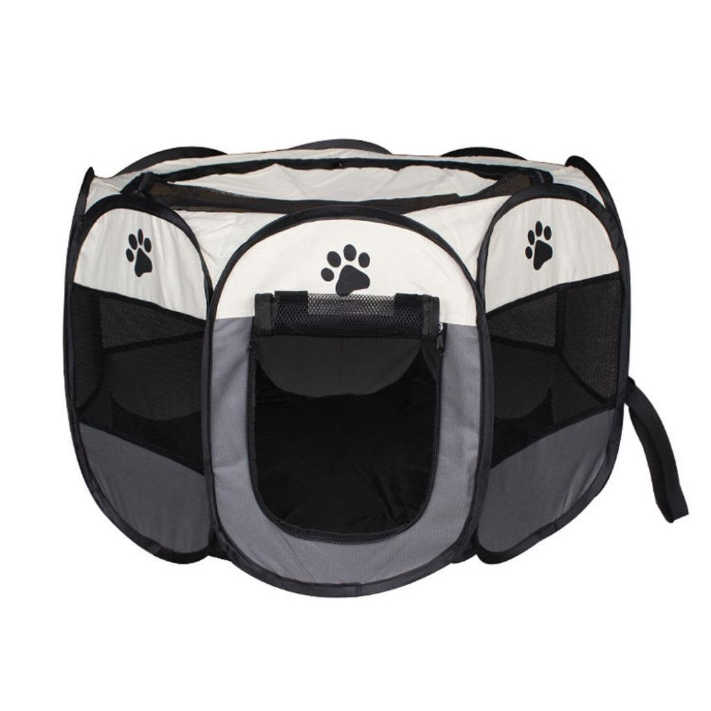 Jeeke Dogs and Cats Pet Tent,Pop Up Camping Tent Outdoor Kennel (Color D, 1 pcs) by Jeeke
