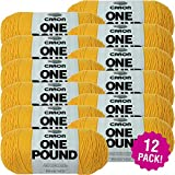 Caron 99607 One Pound Yarn-Sunflower, Multipack of 12, Pack