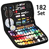 Sewing Kit, 182 Premium Sewing Supplies, 38 XL Thread Spools, Suitable for Traveller, Adults, Kids, Beginner, Emergency, DIY and Home By Inscraft