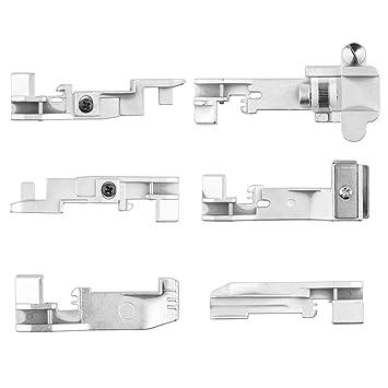 Sunsbell Pies 6pcs Opcional overlock Set Kit Profesional Serger prensatelas: Amazon.es: Hogar