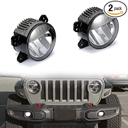 Jeep Wrangler Fog Lights >> Sunpie Led Fog Lights For Jeep Wrangler Jl Jlu Rubicon Sahara 2018 2019 With Plastic Bumper Direct Fit Reflector Led Fog Lamps Pair