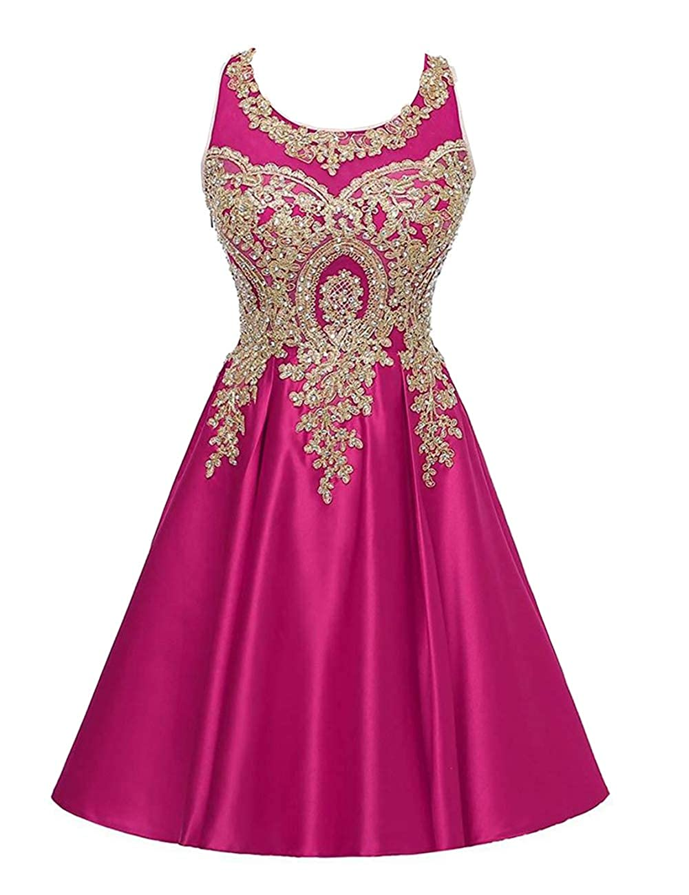 Fuchsia ModeC Junior's Lace Short Prom Party Ball Gowns Sweetheart Homecoming Dresses