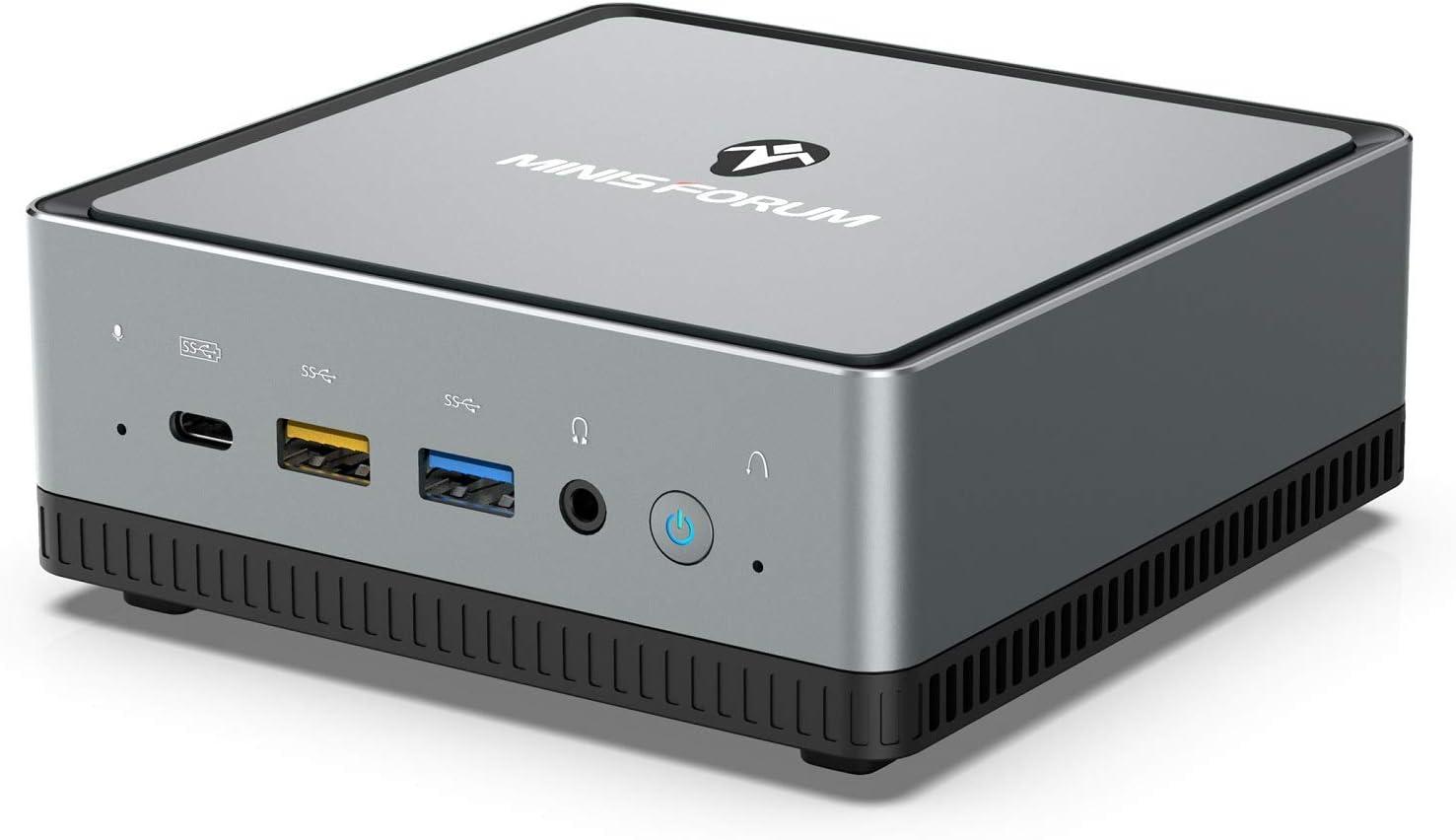 Mini PC AMD Ryzen 5 Pro 2500U | 16 GB RAM 512 GB M.2 SSD | Radeon Vega 8 Graphics | Windows 10 Pro | Intel WIFI6 AX200 BT 5.1 | 4K HDMI 2.0 Display USB-C | 2X RJ45 | 4X USB 3.1| Pequeño Formato