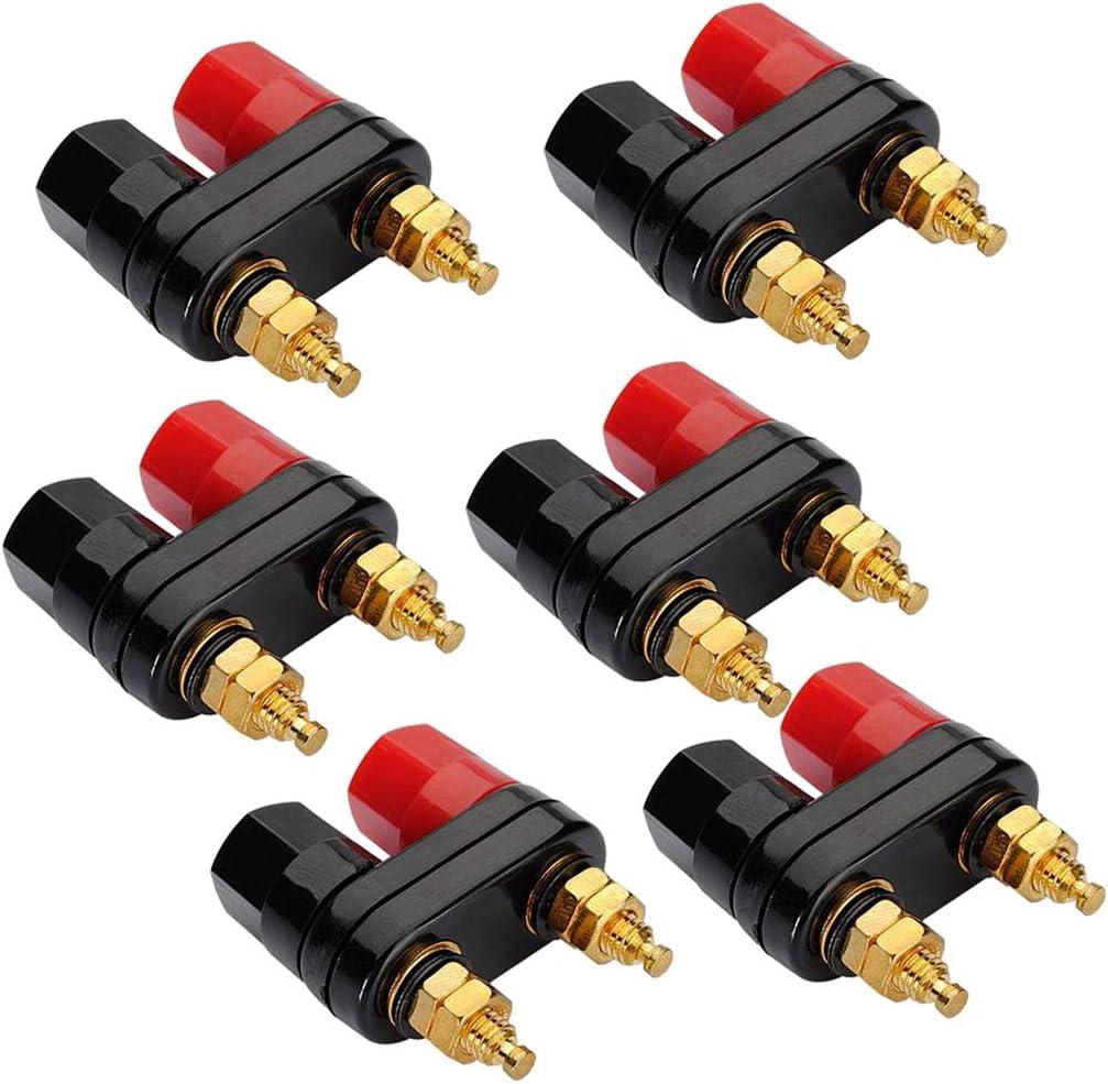 Hot Terminal binding post power amplifier dual copper 2 ways banana plug jack