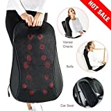 AMEISEYE Back Massager Shiatsu Kneading Massager Cushion with Heat for Lower, Upper Back and Waist (Black)