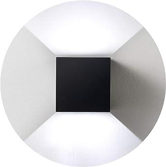 Topmo-plus Bañadores de pared impermeable apliques pared escalera pivotante Luz pared corridor / 12W LED bridgelux COB/aluminio apliques exterior Arriba y Abajo Diseño 10CM negro/Blanco frío: Amazon.es: Iluminación