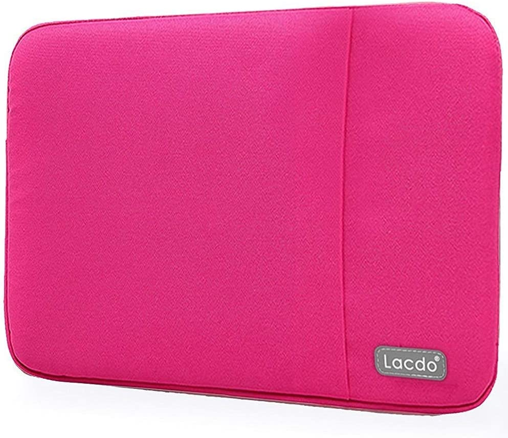 Lacdo 13.3 inch Laptop Sleeve Case for Old 13 inch MacBook Air 2010-2017/13-inch MacBook Pro 2012-2015/13.5 inch Surface Book 3 2 / Asus Zenbook, HP Dell Acer Lenovo Chromebook Computer Bag, Rose