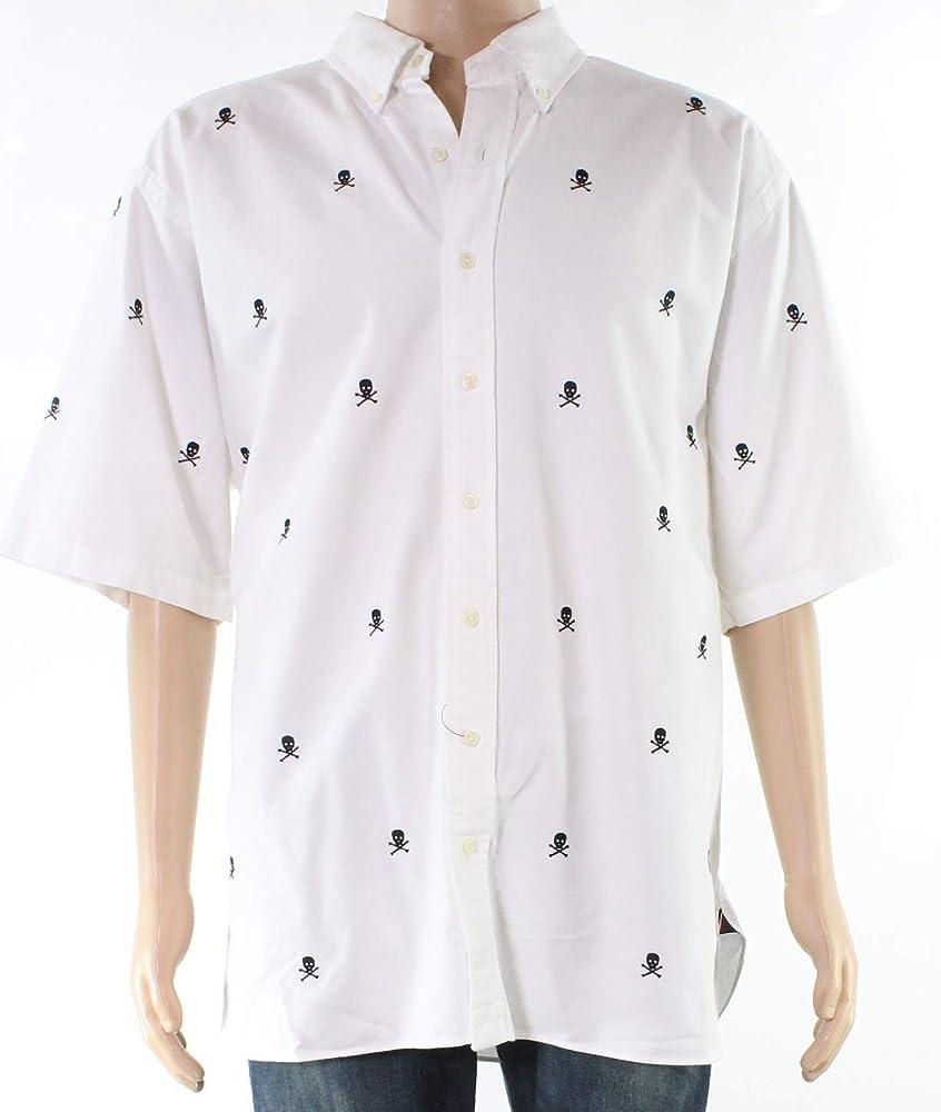 Ralph Lauren - Camisa para hombre, diseño de huesos de calavera - Blanco - Big 3X: Amazon.es: Ropa y accesorios