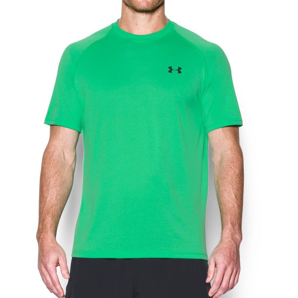 Under Armour Men's Tech Short Sleeve T-Shirt, Vapor Green /Stealth Gray, Small