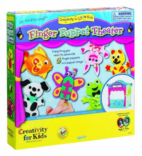 Creativity for Kids Finger Puppet - Cardboard Theater Puppet