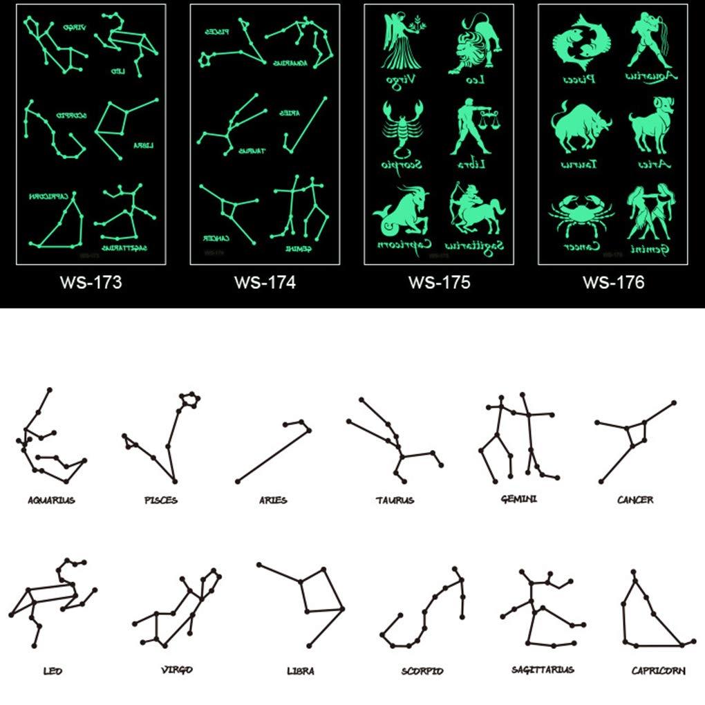 Topke 12 Pegatinas constelación Fluorescente Partido Etiquetas ...