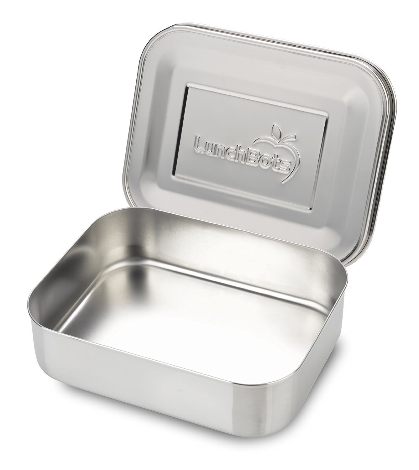 LunchBots Uno Stainless Steel Food Container - Open Design Perfect for Sandwiches, Wraps, Salads or a Small Meal - Eco-Friendly, Dishwasher Safe and BPA-Free - All Stainless