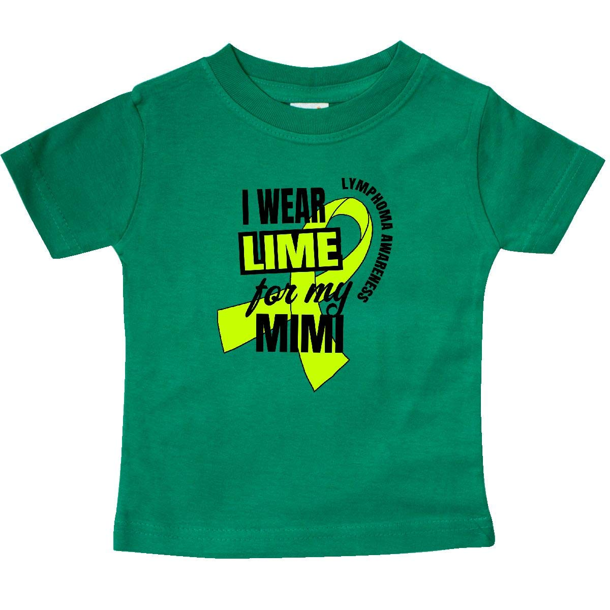 inktastic I Wear Lime for My Mimi Lymphoma Awareness Baby T-Shirt