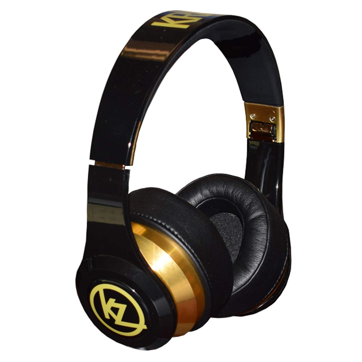 Krankz Maxx Wireless Active Noise Cancelling Over-Ear Headphones - Black & Gold