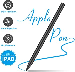 Stylus Pen for Apple iPad Pro, Palm Rejection, High-Precision Active Digital Pencil for iPad 6th Gen, iPad Air 3rd Gen, iPad Mini 5th Gen and IPad Pro 3rd Gen, Black