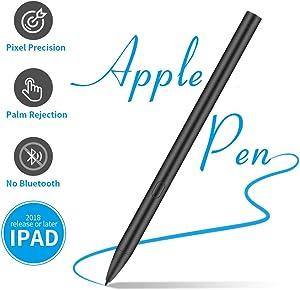 Stylus Pen for Apple iPad Pro, Palm Rejection, High-Precision Active Digital Pencil for iPad 6th Gen, iPad Air 3rd Gen, iPad Mini 5th Gen and IPad Pro 3rd Gen, Black