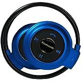 bluetooth イヤホン ヘッドホン ワイヤレスイヤホン ハンズフリー microSDからも再生可能 高音質 iPhone Android 各種対応 blueeyap3tブルー