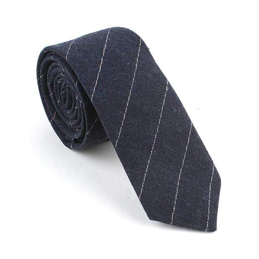 Littlefairy Hombre Designer Corbata,Corbata teñido algodón Rayas ...