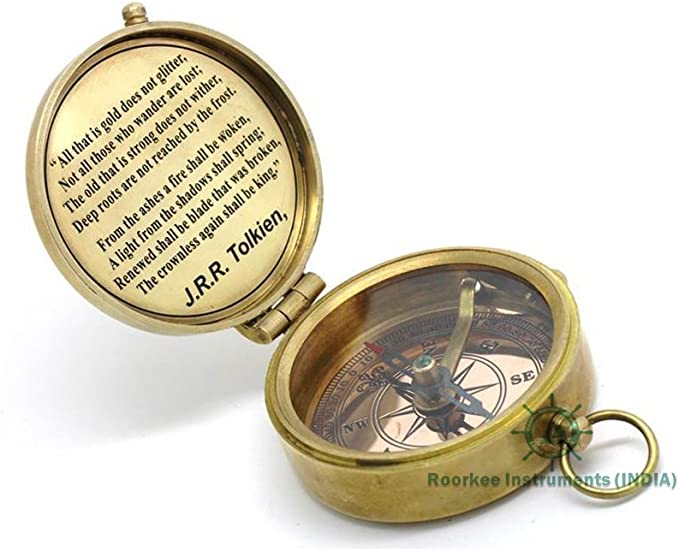 ROORKEE INSTRUMENTS A NAUTICAL REPRODUCTION HOUSE to My Dad//Gift to Dad//Daughter to Dad//Dad Birthday Gift Brass Compass W//Case INDIA