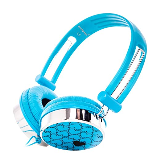 2 opinioni per RockPapa OV870S DJ Cuffie di Love Cuori per Bambini / Adulti, Regolabile,