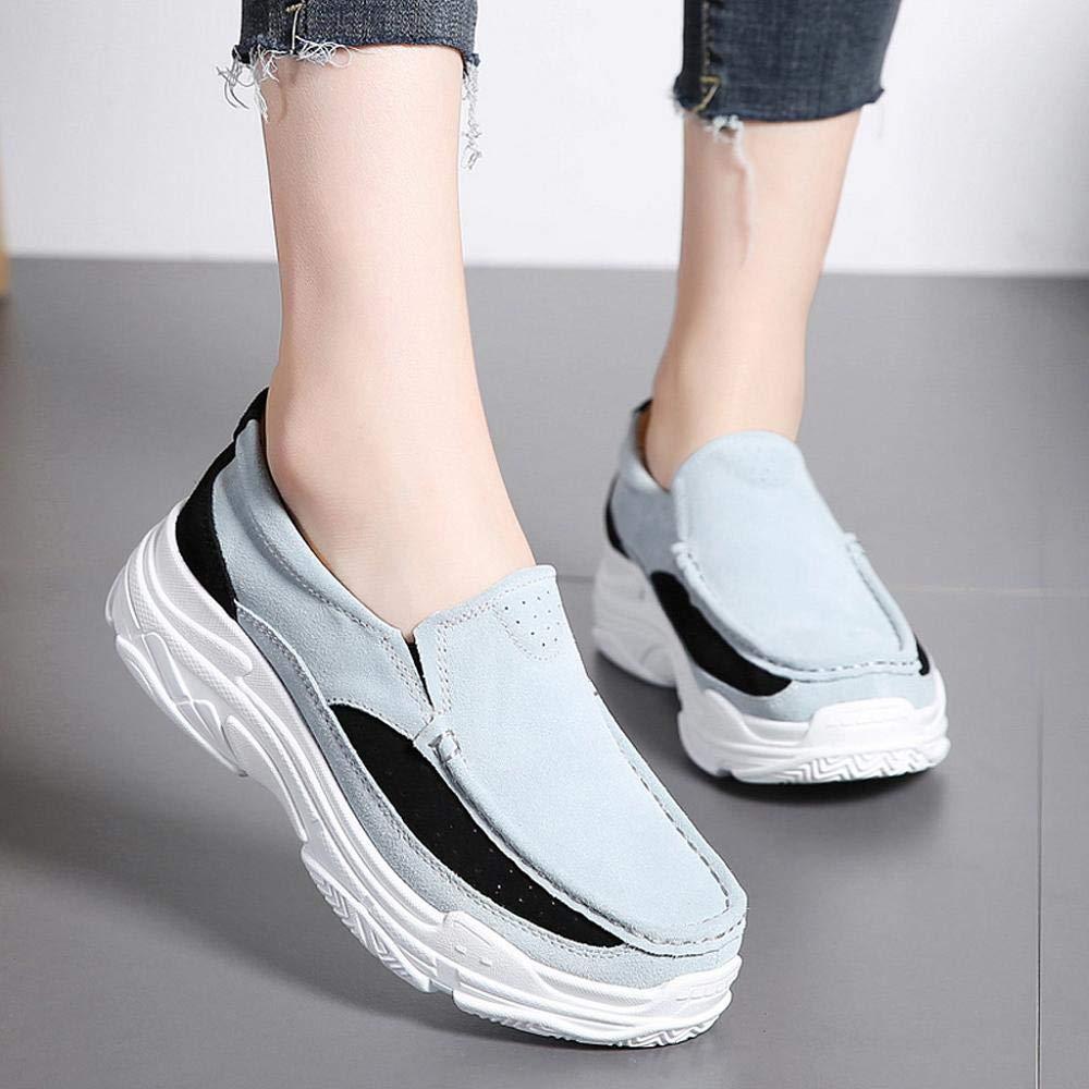 Oliviavan Womens Fashion Wedges Single Shoes Flat Bottom Sports Shoes Non-Slip Peas Shoes