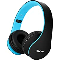Auriculares Inalámbricos sobre el oído, JIUHUFH Auriculares Plegables Bluetooth con Micrófono Incorporado / 3,5 mm…