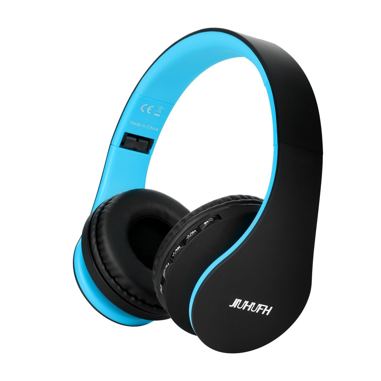 JIUHUFH Auriculares Inalámbricos Sobre el oído, Auriculares Plegables Bluetooth con Micrófono Incorporado / 3,5 mm Auriculares con Entrada de Audio/Cómodos ...