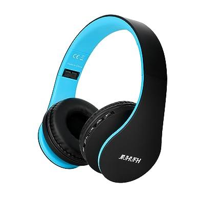 JIUHUFH Auriculares Inalámbricos Sobre el oído, Auriculares Plegables Bluetooth con Micrófono Incorporado / 3,