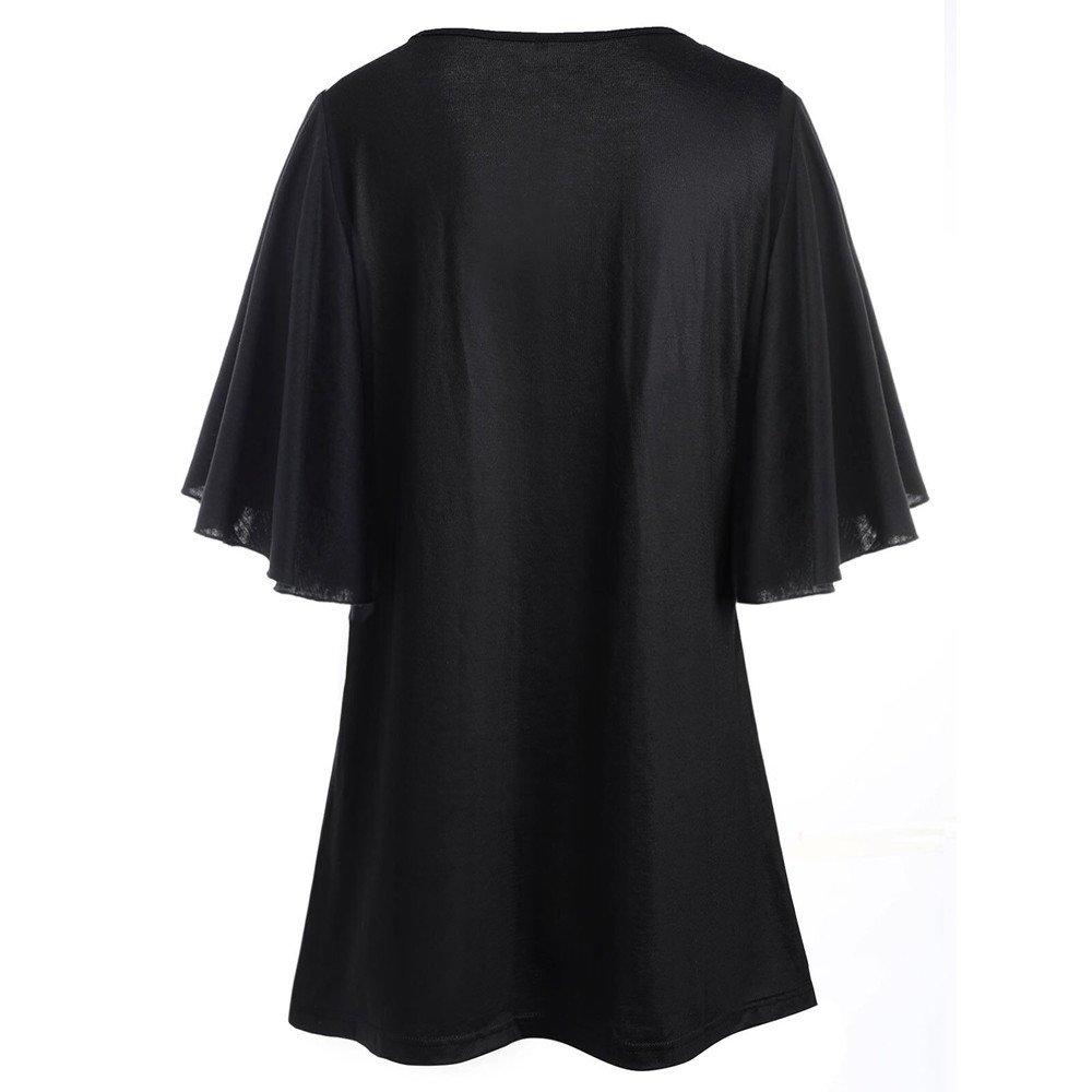 Women Tank Top Plus Size Cuekondy Summer Casual Musical Notes Print Sleeveless Vest Blouse T-Shirt Black-1, XL