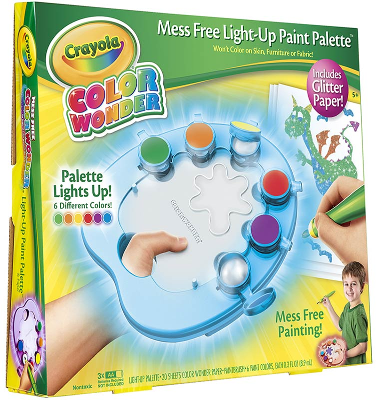 Crayola Color Wonder Light Up Paint Palette With Glitter Paper