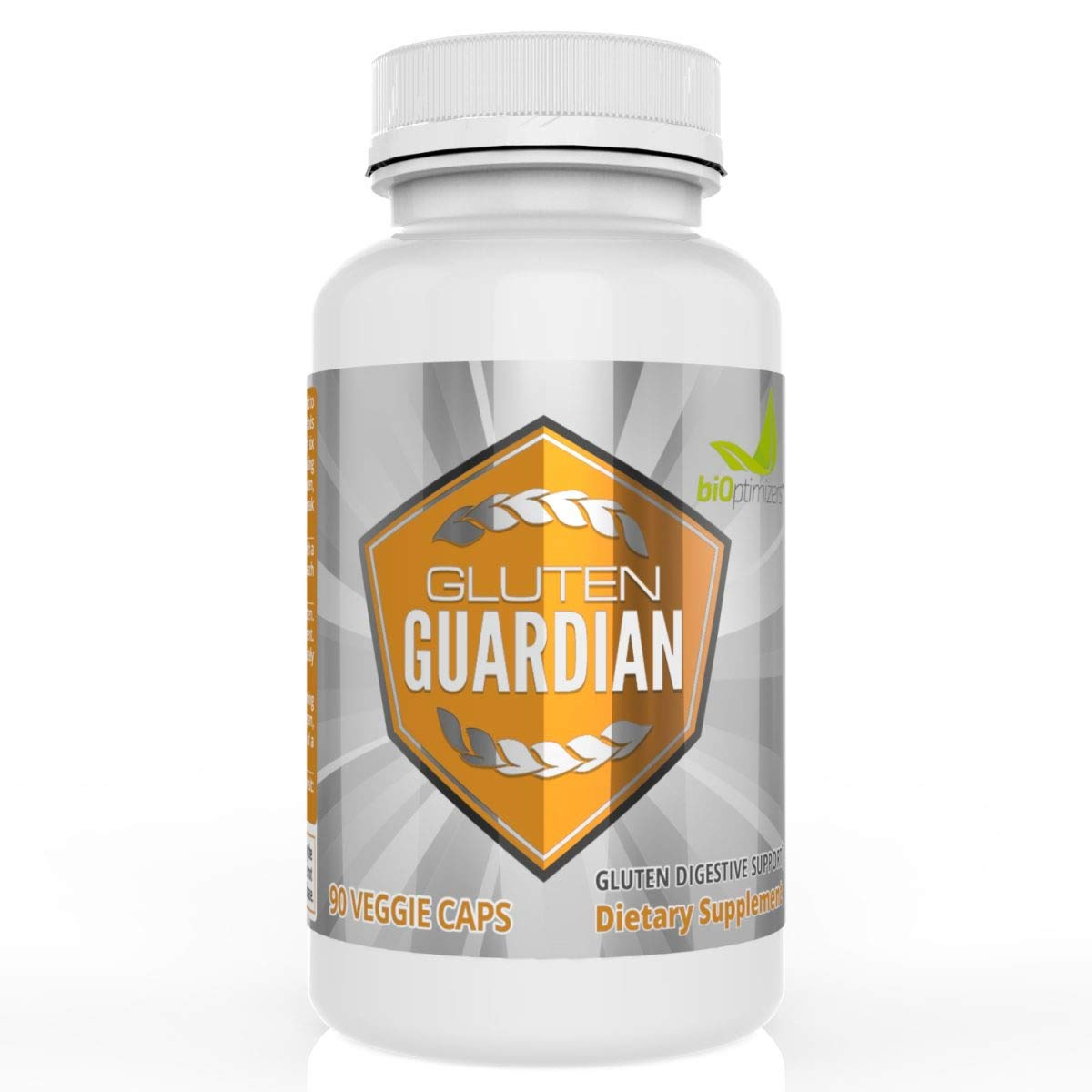 Gluten Guardian - Premium Gluten Digestive Enzymes - Avoid Toxic Gluten Effects - Relief from Occasional Gas, Bloating and Indigestion - No Artificial Ingredients - 90 Capsules