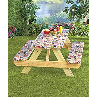 3-Pc. Picnic Table Covers (Summertime Cookout) : Garden & Outdoor