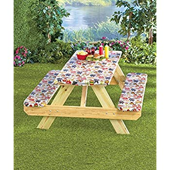 3 Pc Picnic Table Covers Summertime Cookout